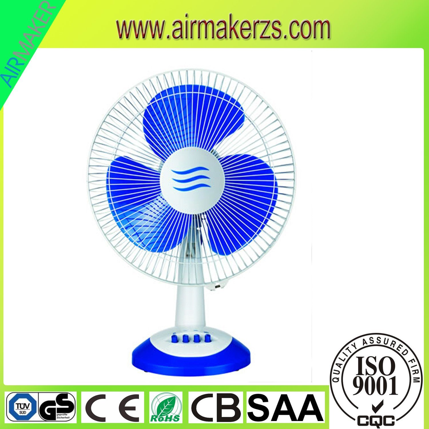 China New Model 16inch Table Fan Desk With Timer Saa Cb Ce Plastic