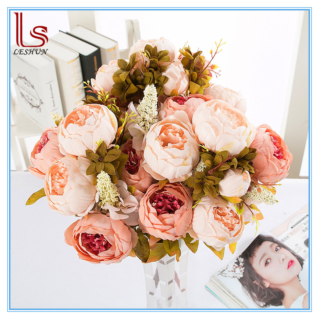 Wholesale cheap artificial flower buy reliable cheap artificial wholesale wedding home decorative artificial peony flowers izmirmasajfo