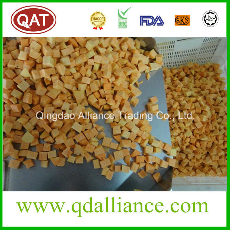 Plain Diced Sweet Potatoes: China IQF Frozen Diced Sweet Potato Without Skin