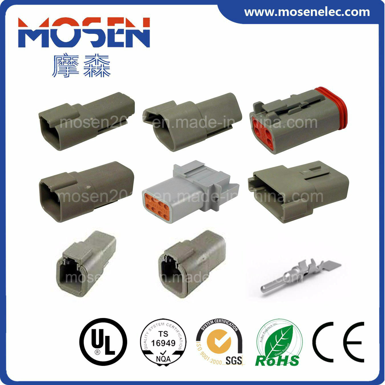China Deutsch Auto Connector Dt04 2p 3p 4p 6p 8p Wiring Connectors 12p Dtp04 Electrical 1060 16 0122 Wire