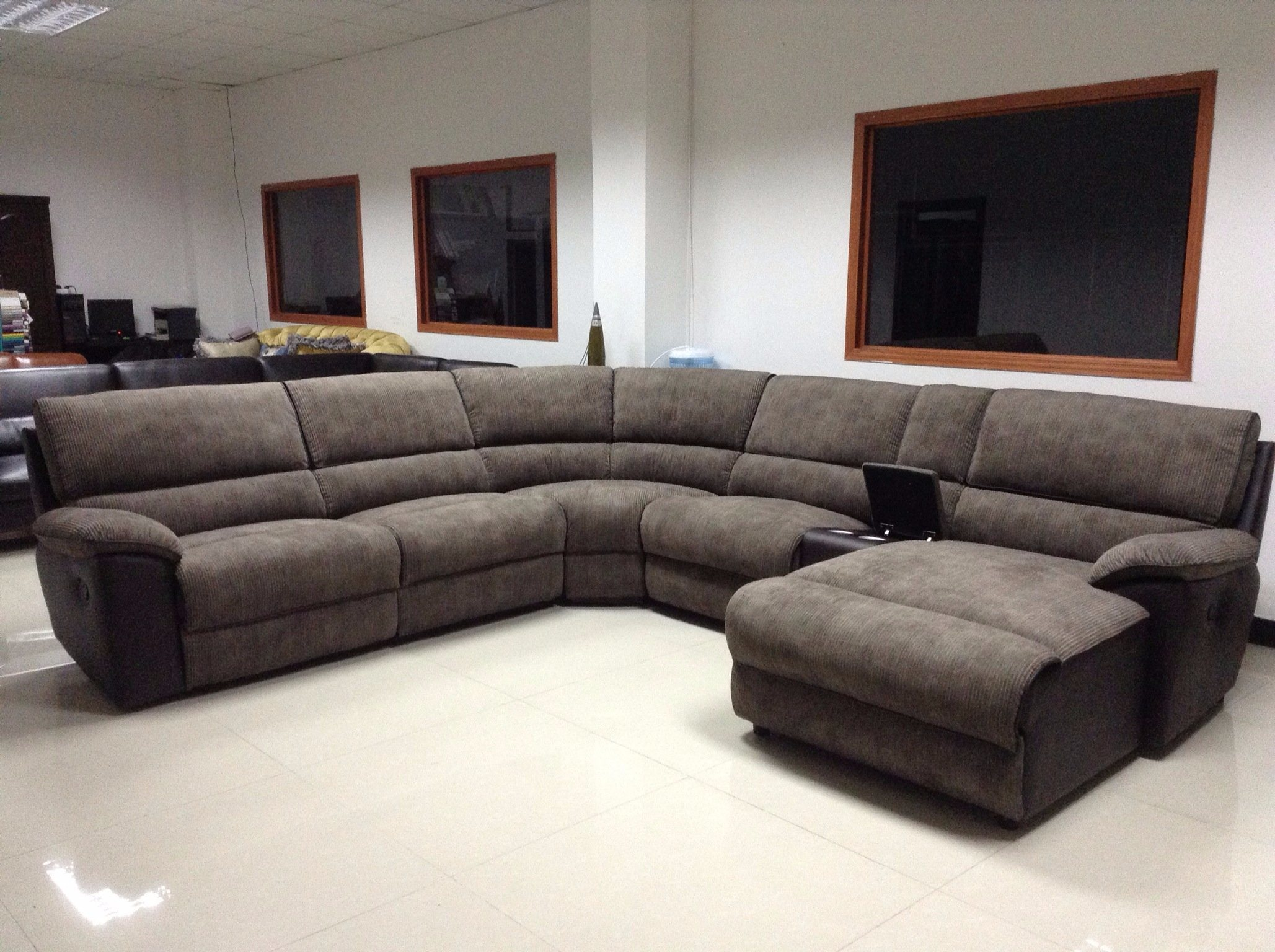 Living Room Modern Corner Recliner Sofa