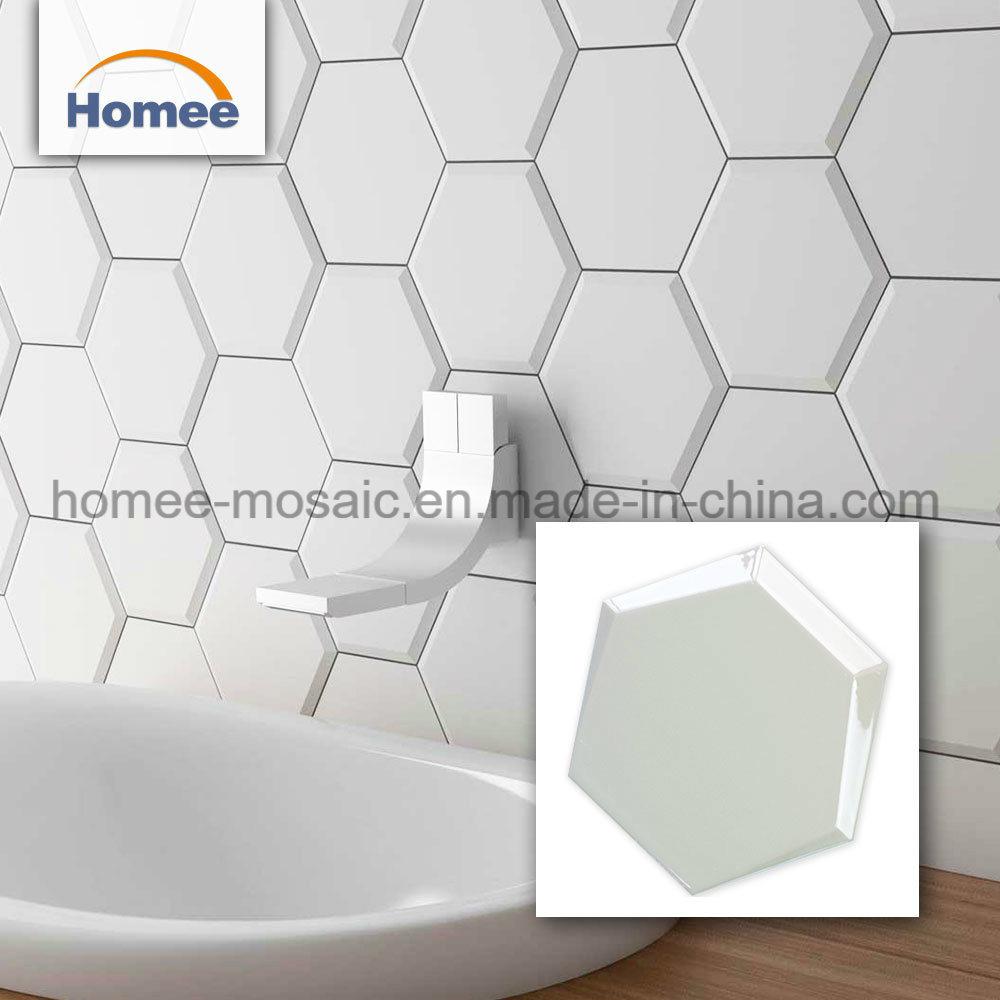 - China Hexagon Backsplash Tiles Bathroom Walls Ceramic Mosaic Wall