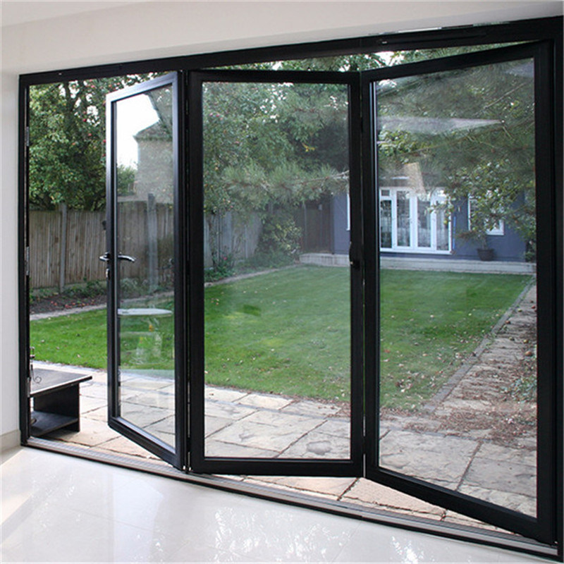 China Hot Selling Best Price Folding Glass Doors Aluminum Alloy