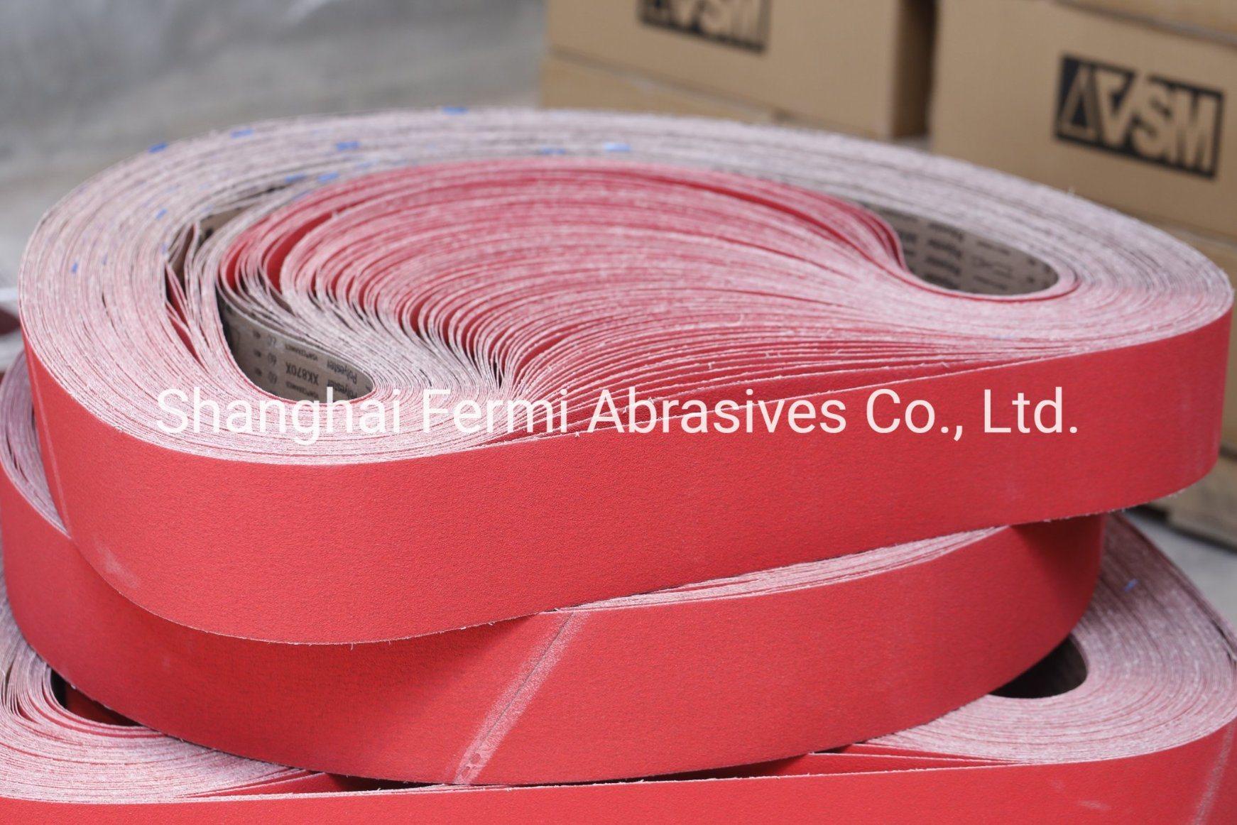 China Vsm Xk870x Ceramic Sanding Belts For Stainless Steel China Abrasive Belt Sanding Belt