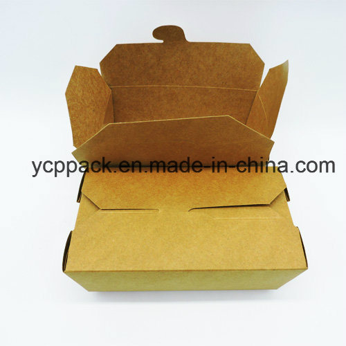 Disposable Kraft Printed Food Packaging Take out Box pictures & photos