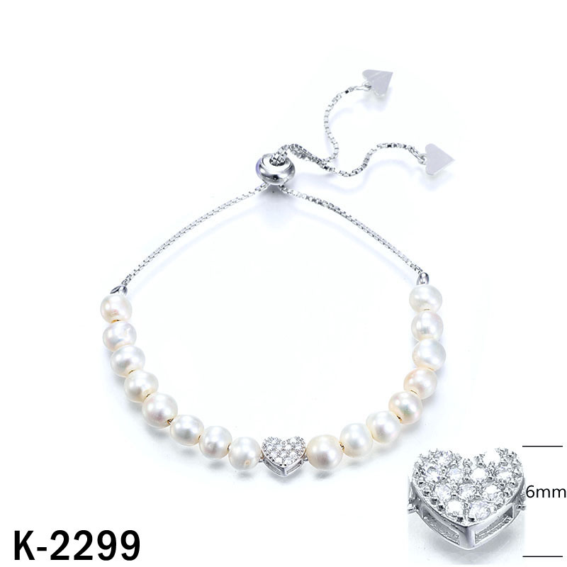 New Designs 925 Silver Pearl Bracelets with Extension Chain
