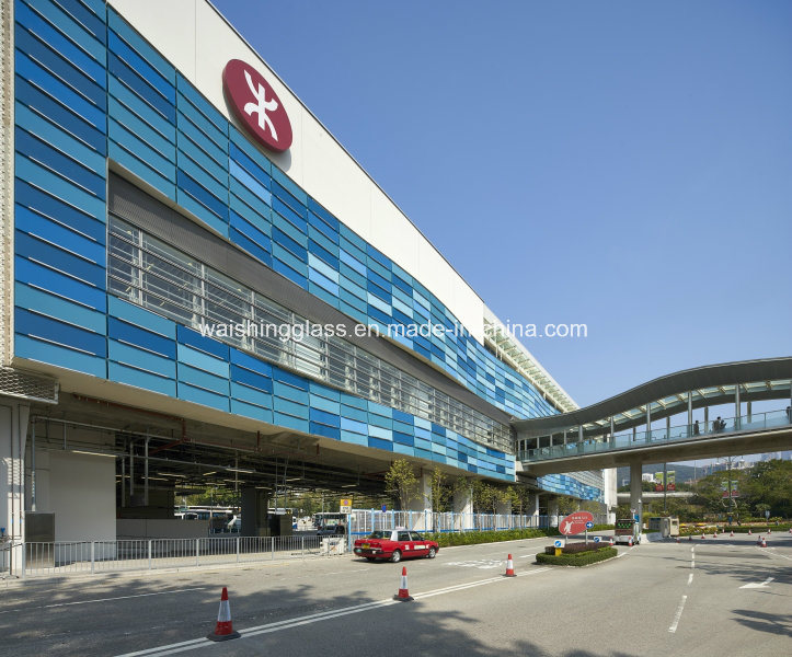 12mm Tempered/Toughened Laminated Glass for Curtain Wall with Ceramic Fritted pictures & photos