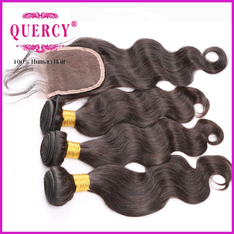 Top Quality Unprocessed Virgin Peruvian Body Wave Natural Hair Bundles with Closure pictures & photos