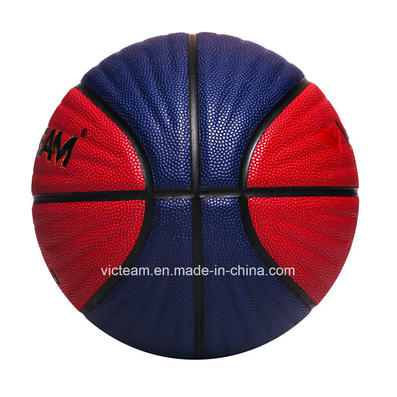 Non-Slip Size 5 6 7 Compostie PU Leather Basketball pictures & photos