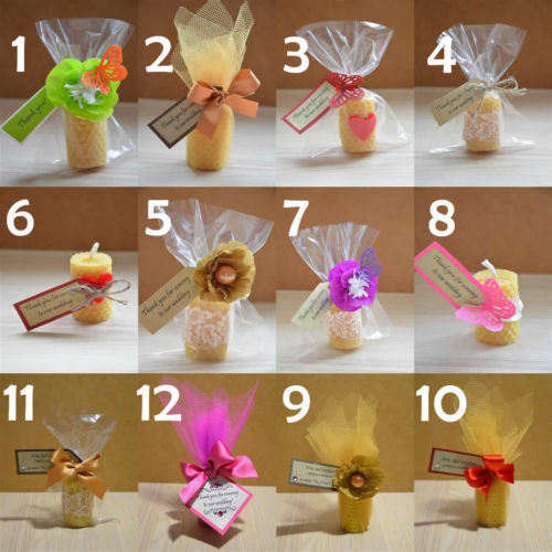 China Wedding Gifts For Guests Wedding Beeswax Candle Favour Guest