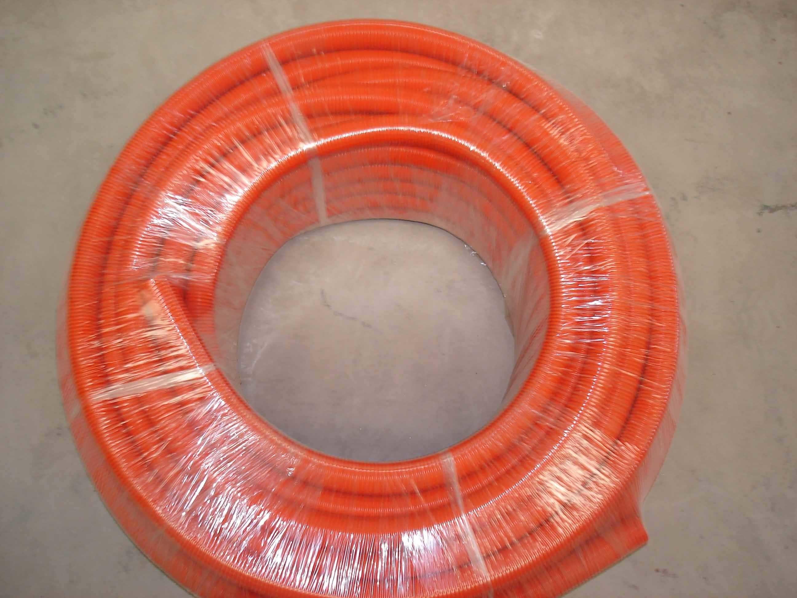 China As Nzs 2053 Pvc Flexible Conduits Orange Photos Pictures Electrical Conduit Pipespvc Conduitpvc