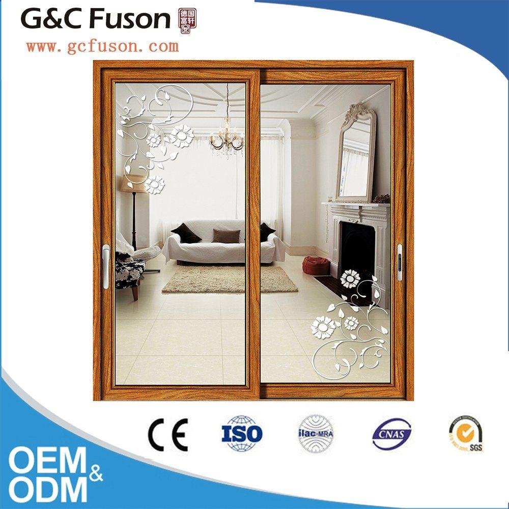 China Big Glass Aluminum Double Glazed Sliding Interior Door China