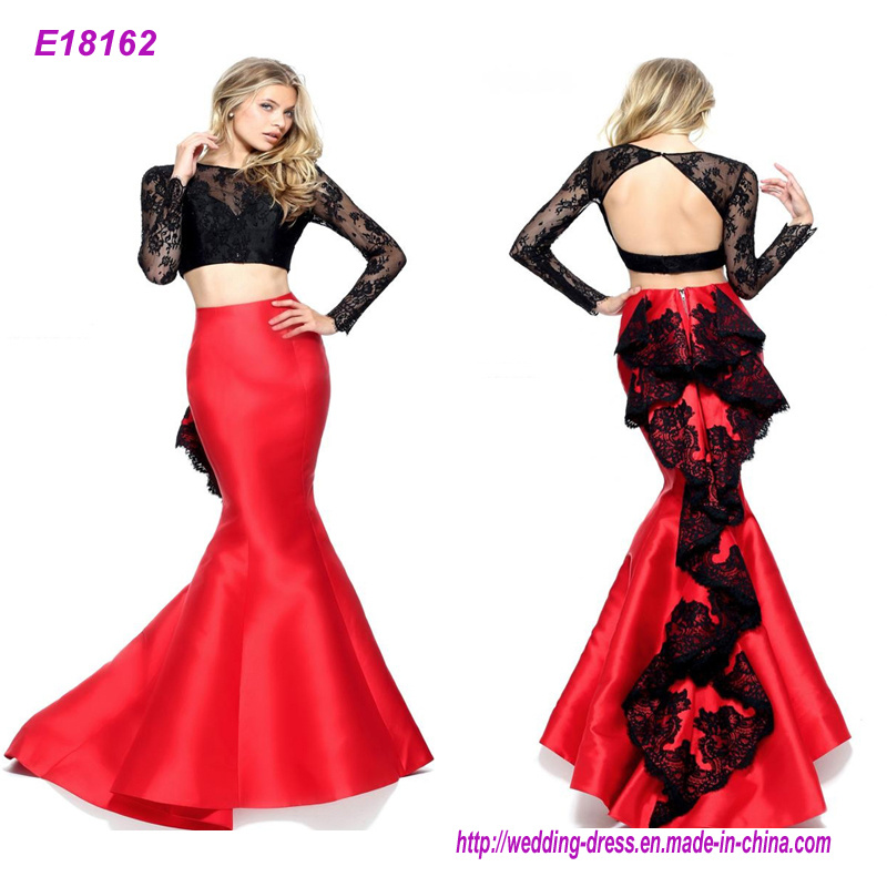 china length sleeveless red evening dress women party wear