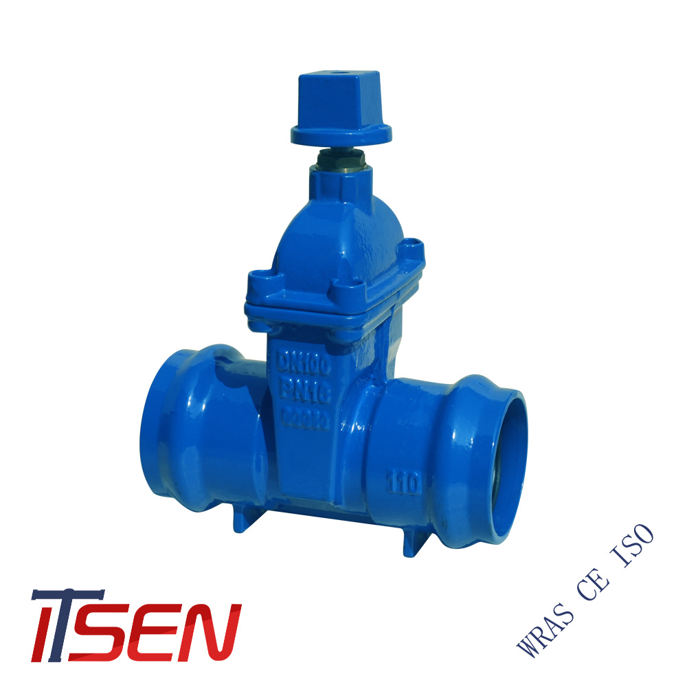 [Hot Item] Ductile Iron Ggg40/Ggg50 Socket End Gate Valve with Operation  Cube Cap for Buried PVC Pipes