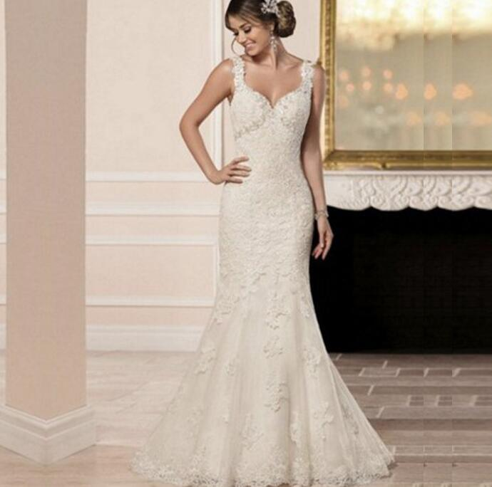 Hot Item New Style Y Fashion Lace Bridal Gown Fishtail Wedding Dress