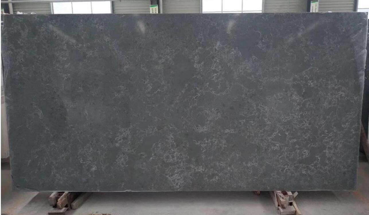 China Dark Grey Grey Stone Quartz Marble Slab For Countertop And Flooring Tile Project China Quartz Slab Engineered Quartz Slabs