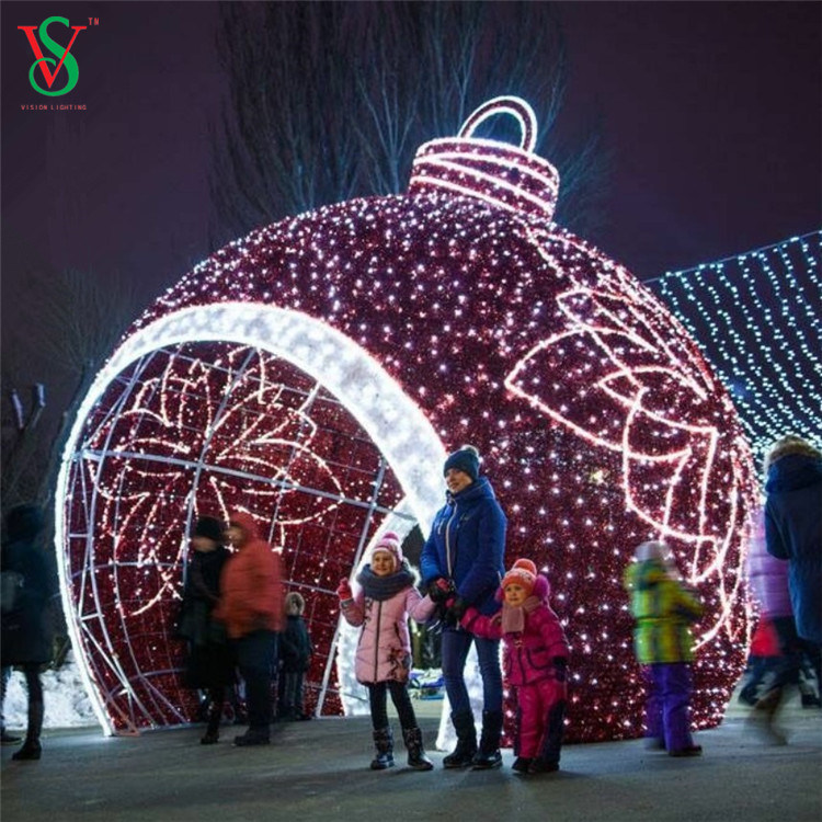 2020 Outdoor Christmas Light Large Sphere China 2020 Giant Outdoor Christmas Lights LED Big Ball 3D Motif