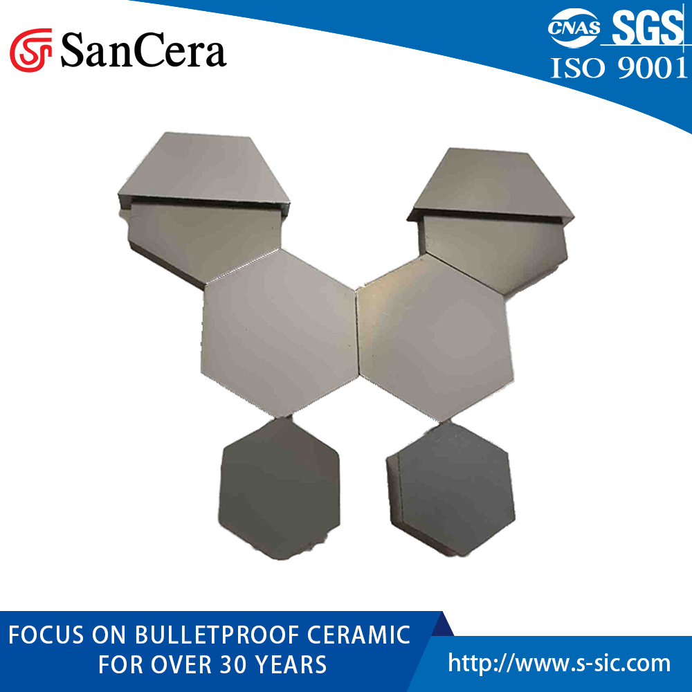 Sintered Silicon Carbide Ceramic Plate for Bulletproof Board 50*50*6mm pictures & photos