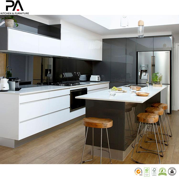 China Pa Custom Made Two Tone Kitchen Cabinets China Kitchen Cabinets Kitchen Furniture