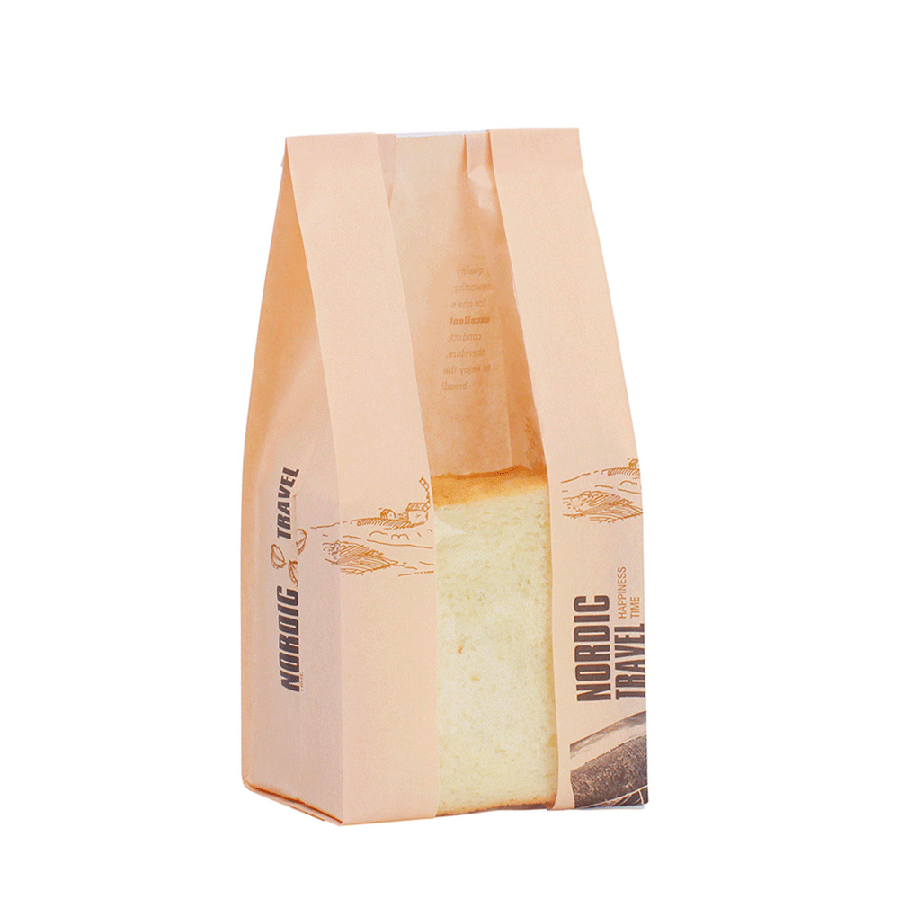 Toast Bread Package Kraft Paper Bag pictures & photos