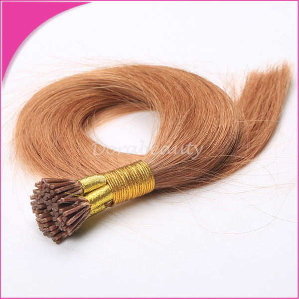 China Remy Human Hair Micro Bead I Tip Pre Bonded Hair Extension