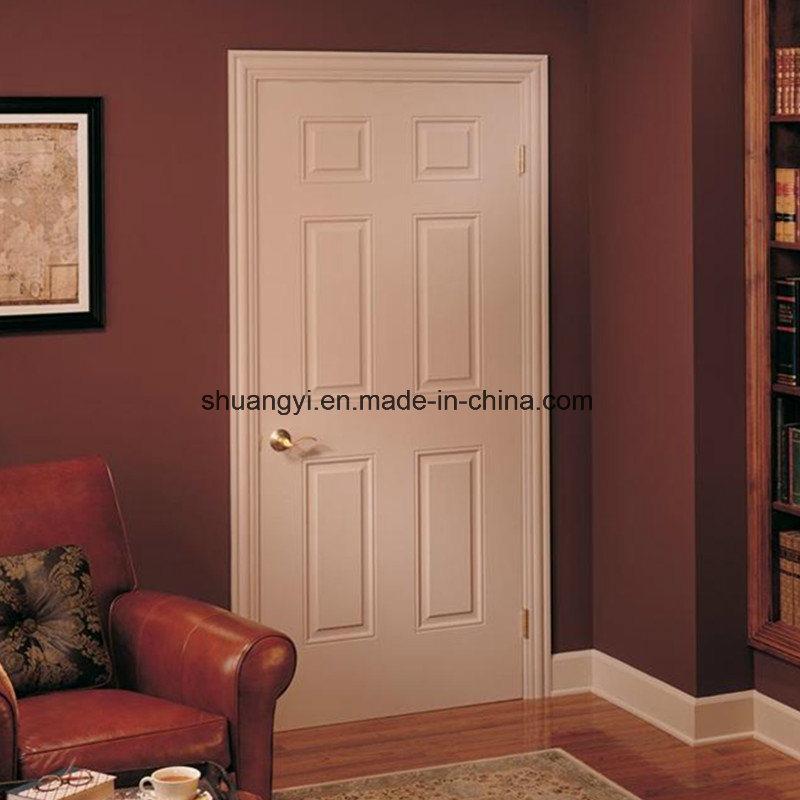 Hot Item Cheap Wooden Internal Door 6 Panel Interior Doors With Frame