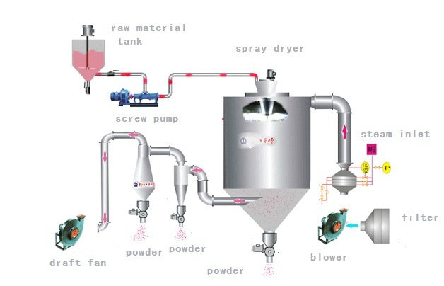 China Washing Powder Spray Dryer Drying Machine China