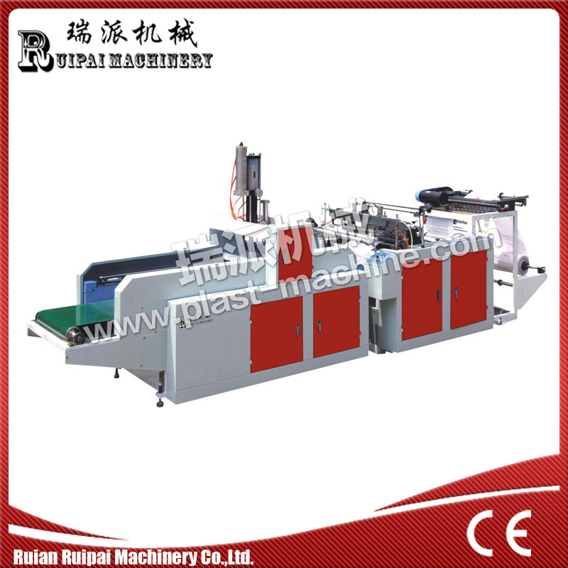 One Line Hot Sealing Hot Cutting Plastic Bag Making Machine pictures & photos