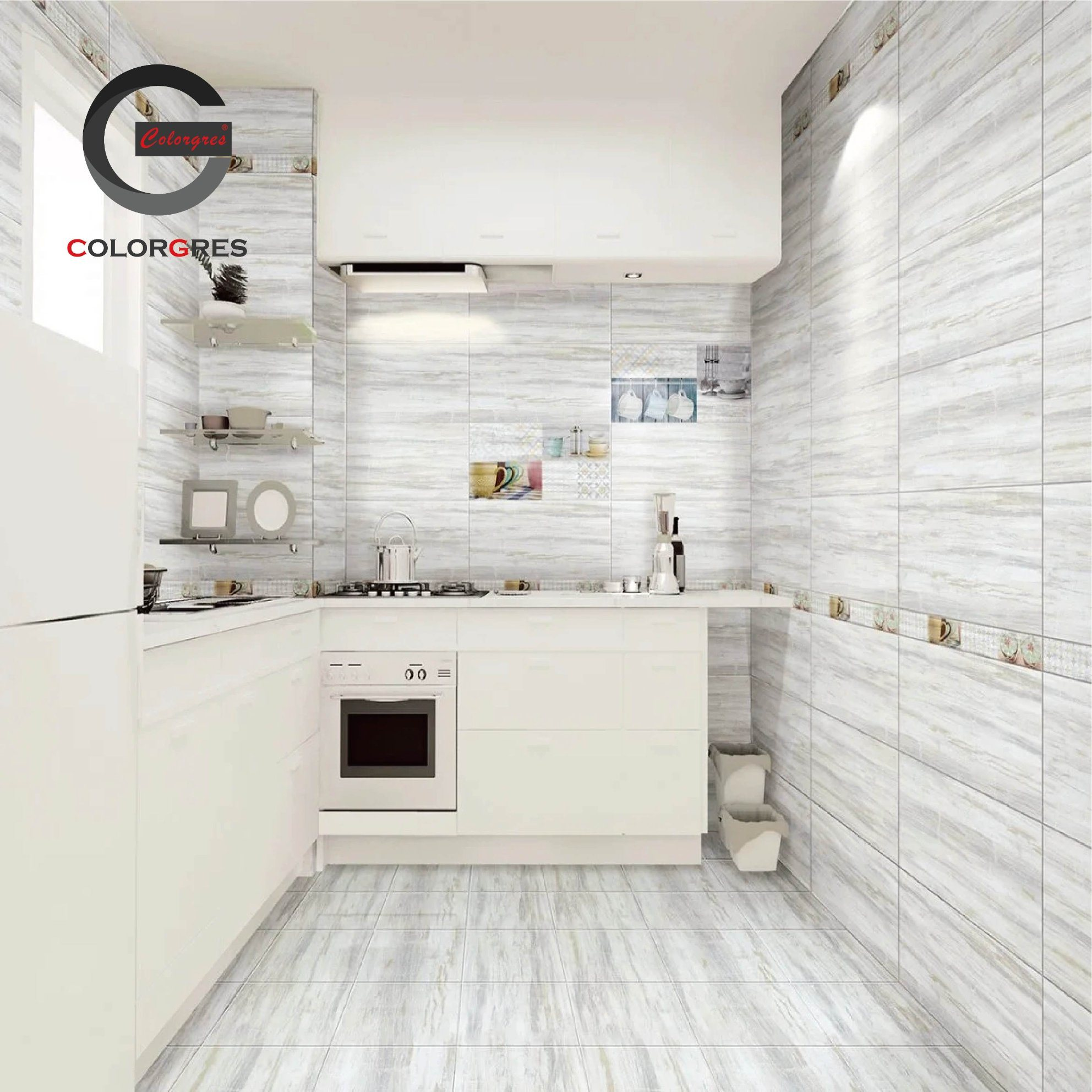 Ceramic Floor Tile and Wall Tile for Bathroom and Kitchen 9X9mm