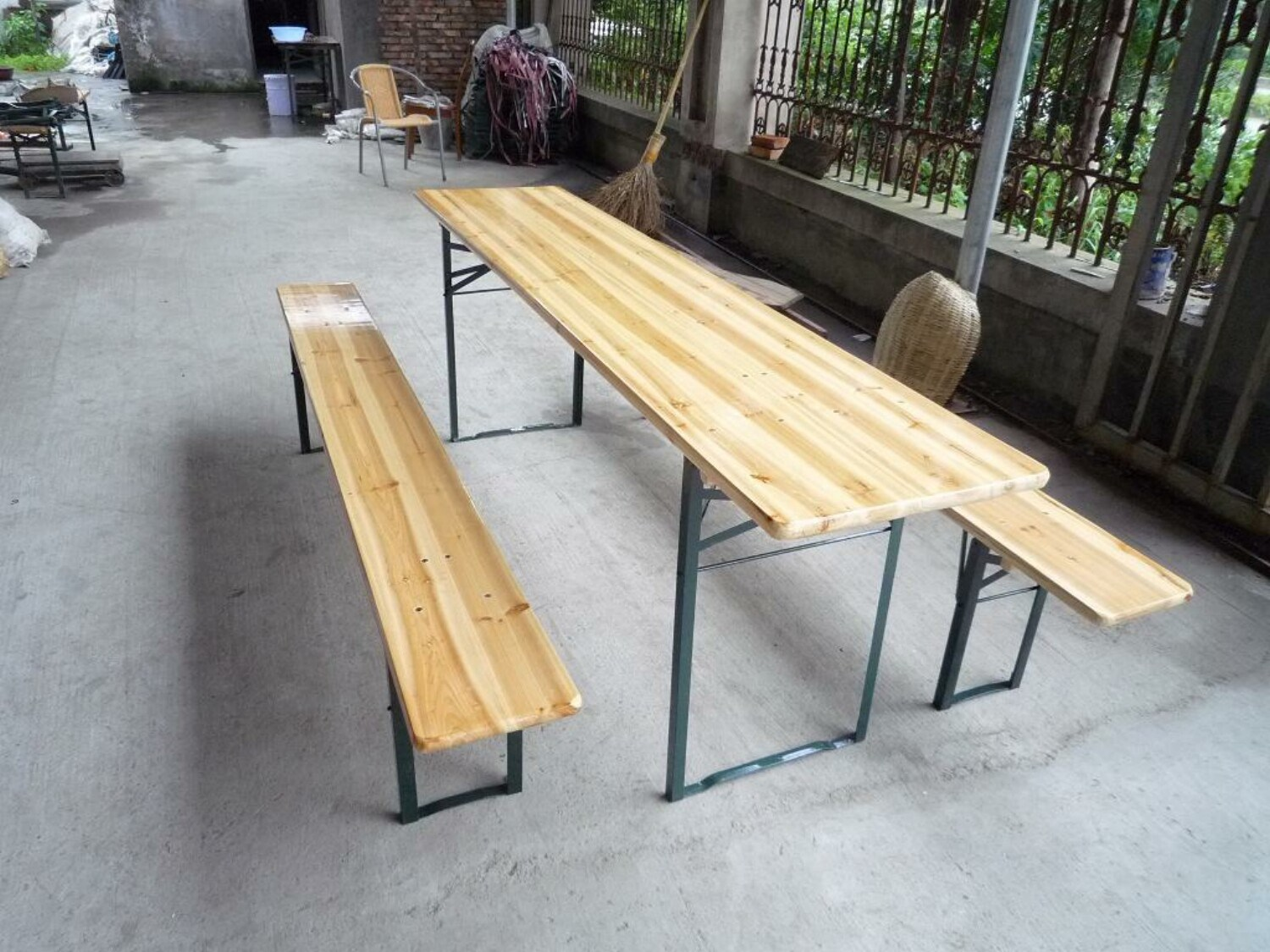 Groovy Hot Item Outdoor Wooden Beer Table And Benches Creativecarmelina Interior Chair Design Creativecarmelinacom