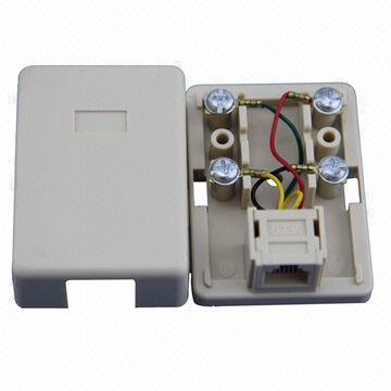 China Rj11 Rj12 Rj45 Telephone Socket With Good Price