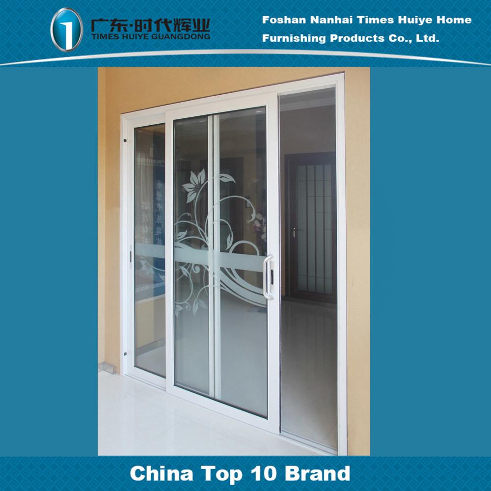 China 2 Track Double Layer Glass Aluminium Sliding Door For Interior