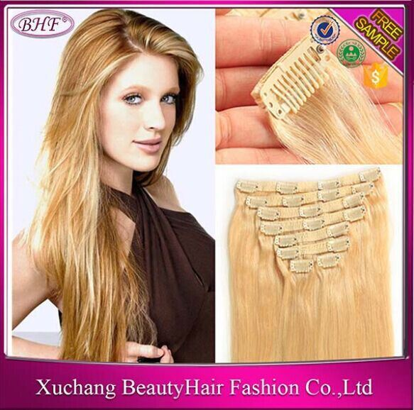 China 2016 New Hair Malaysian Silky Straight Clip In Hair Extensions