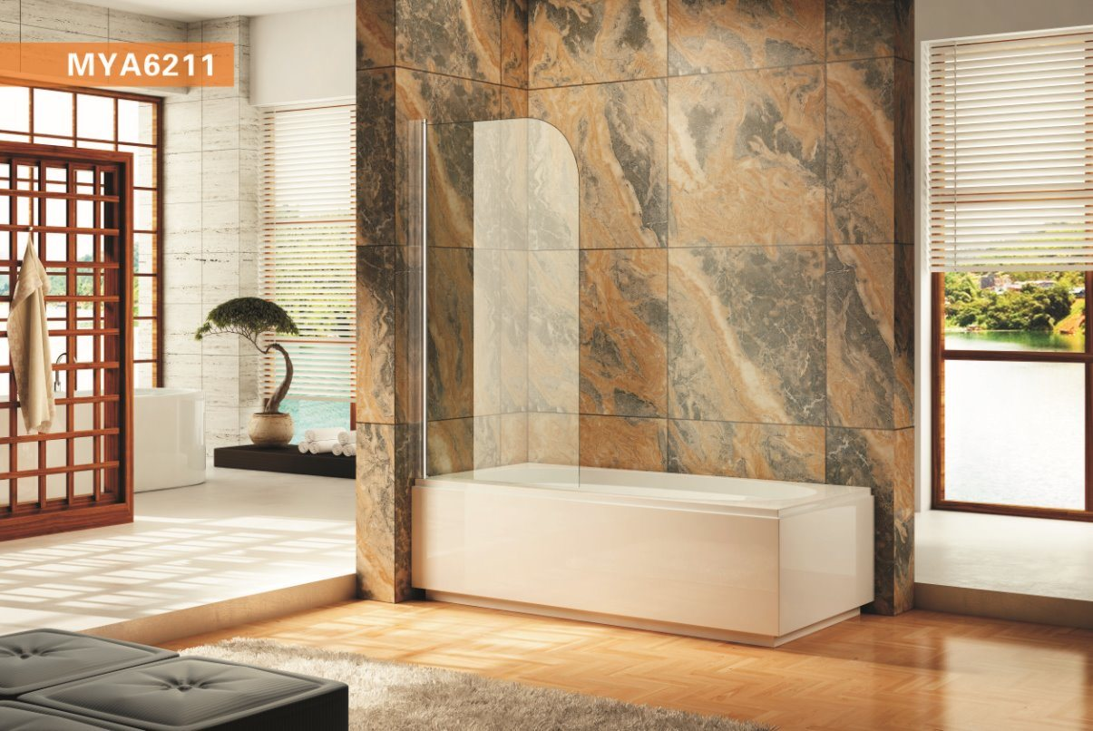 China Wall-Mounted Profile Modern European Bathtub Shower Screen ...