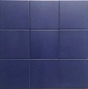 China 4x4 Quot Matt Blue Glazed Porcelain Floor And Wall Tile