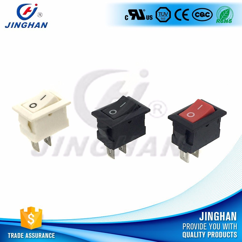 China Wholesale On Off White 6a Mini Rocker Switch Rectangular Spst Switches Onoff