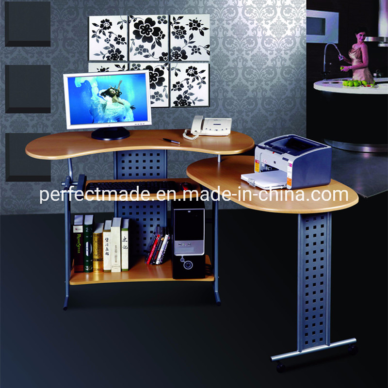 China L Shaped Expandable Computer Desk, Desk With Printer Storage