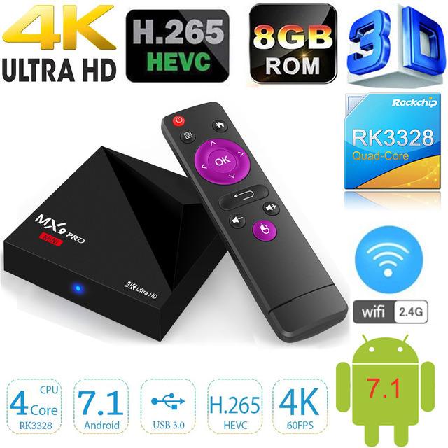 [Hot Item] China Kodi 17 1 4k Android 7 1 Newest Mini Set IPTV TV Box Mx9  PRO