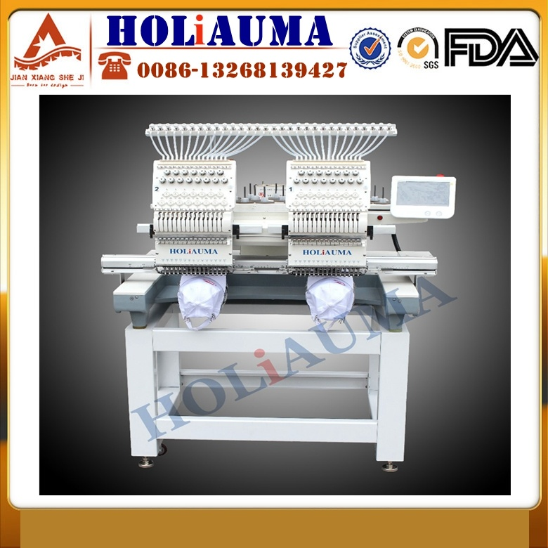 Hat Embroidery Machine Sale Chinese Computerised Double Two Head Swf Similar Embroidery Machine for Sale in Karachi