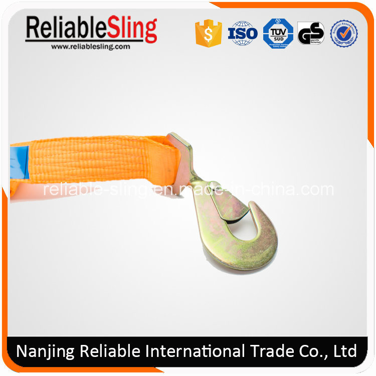 Ce GS ISO 2 Inch 5000 Kg Orange Tie Down with Plastic Ratchet Handle