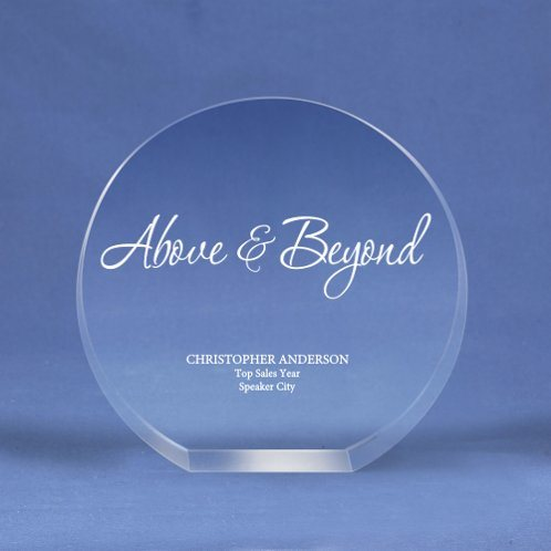 Round Crystal Logo Collection Trophy for a Desktop Award (#70154)