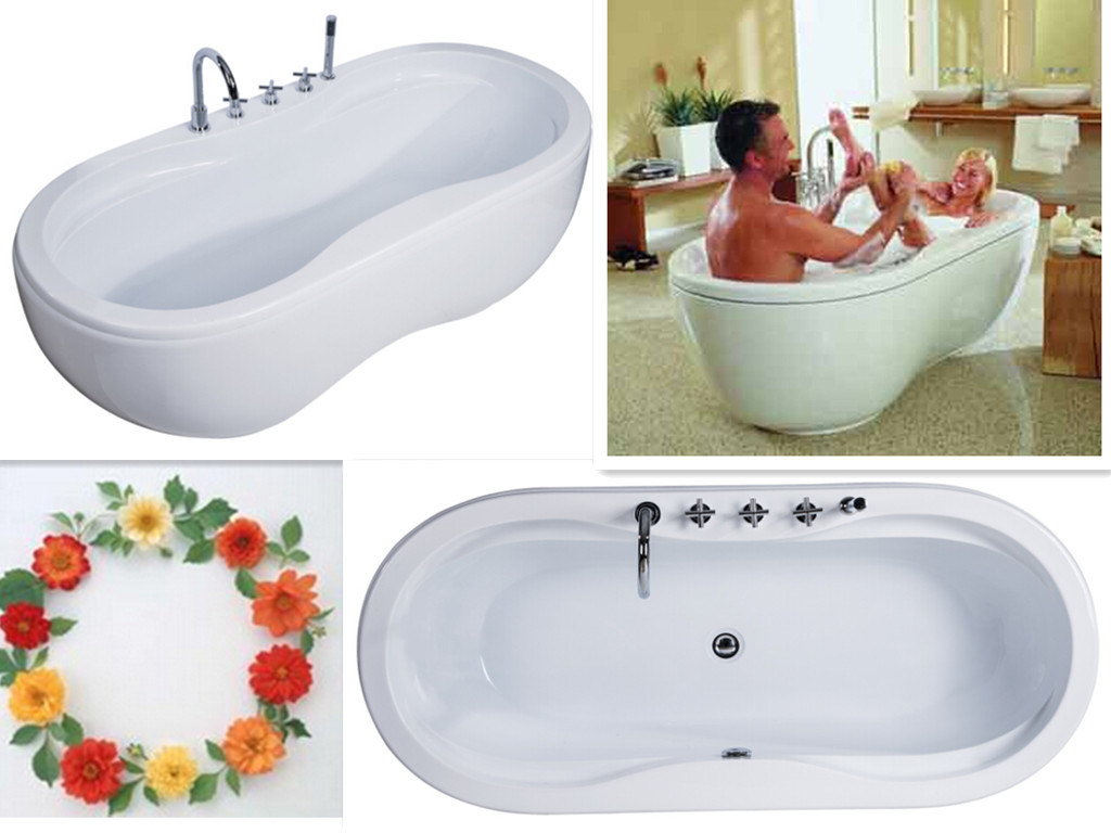 China Upc Double Egg Bowl Bath Tub Cheap Soaker/Soaking Bath - China ...