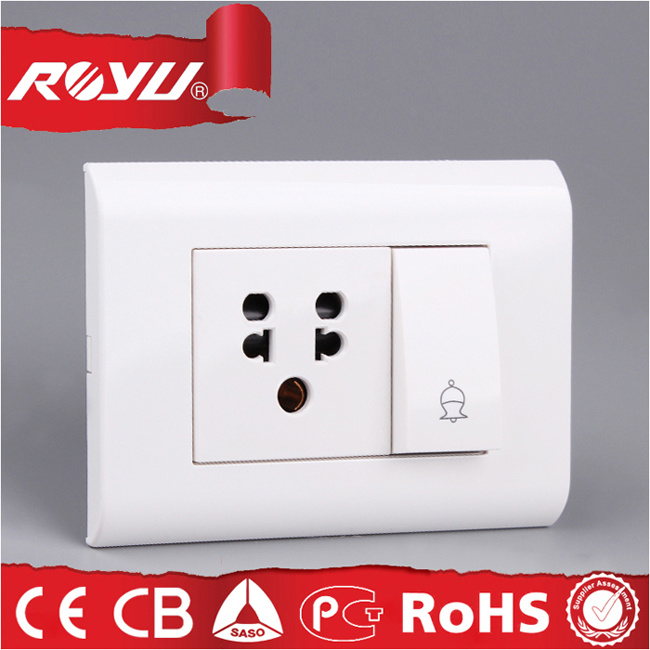 6 16 a Combined Switched Socket with Isi Approval