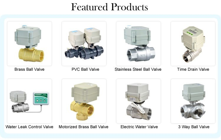 3 Way Electric Flow Control Brass Water Ball Valve Ce/RoHS Motorized Shut off Valve with Manual Operation