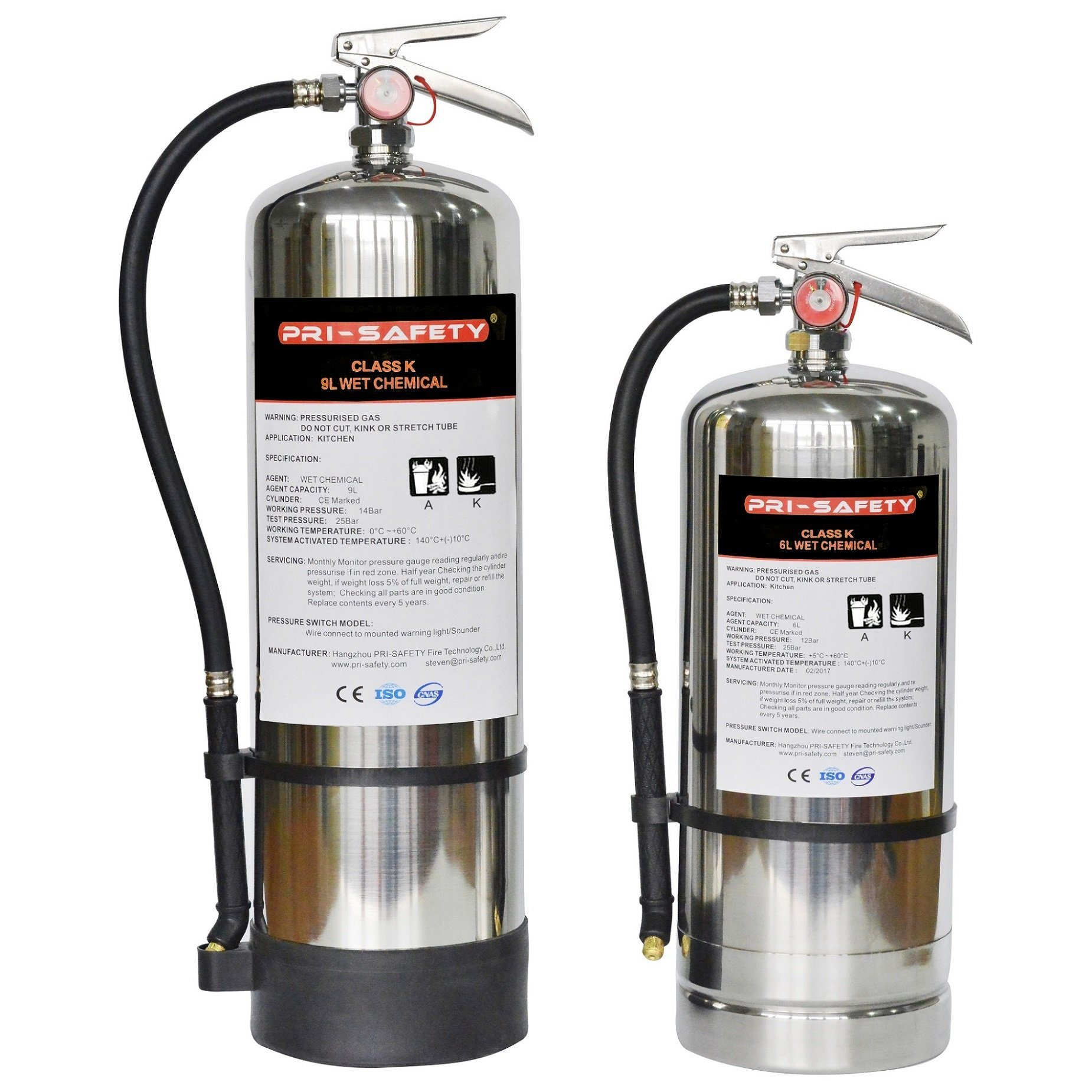 China American Wet Chemical Stored Pressure Class K Kitchen Fire Extinguishers China Wet Chemical Extinguisher Class K Extinguisher