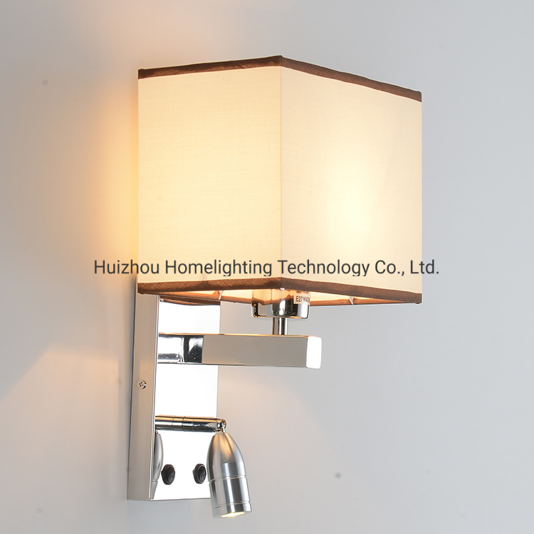 China Jlw H010 Decorative Hotel Home Bedroom Bedside Wall Mounted Night Lamp With 1w Reading Light China Hotel Wall Lamp Hotel Wall Lamp With Reading Light