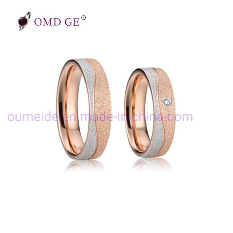 Unique Wedding Ring.Hot Item Rose Gold Matt Plastic Stone Unique Wedding Ring