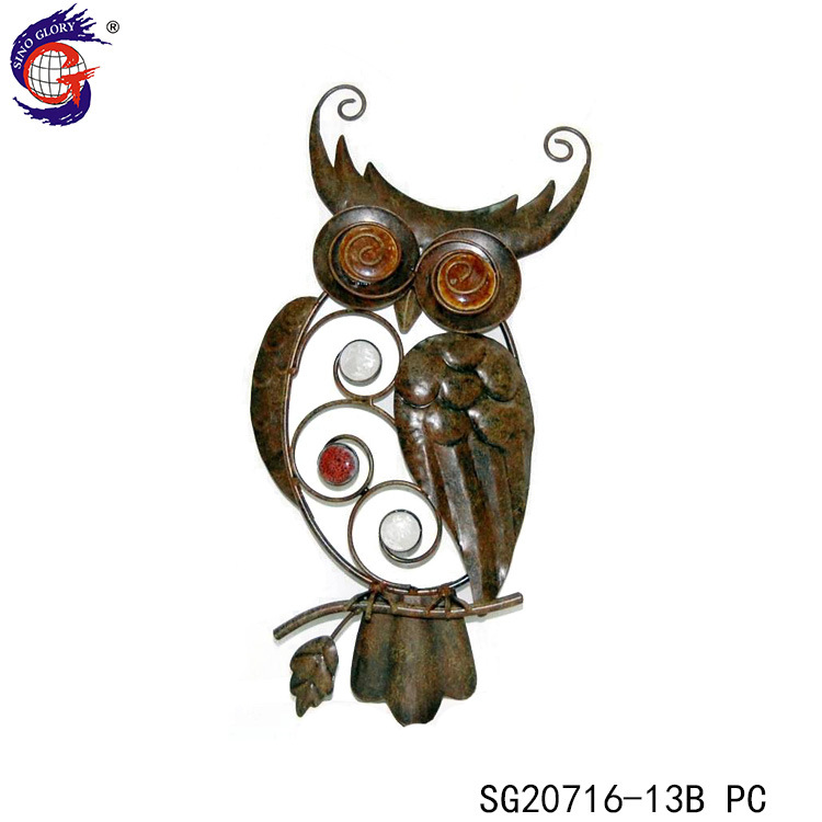 China Latest Metal Owl Wall Hanging For