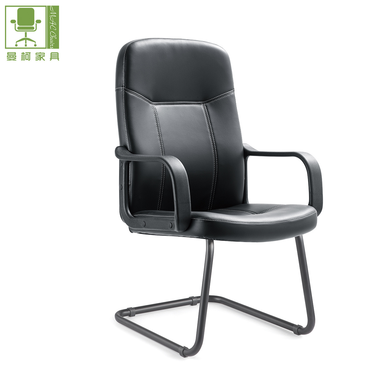 Magnificent Hot Item Black Color Modern Pu Leather Mid Back Office Visitor Chair Machost Co Dining Chair Design Ideas Machostcouk