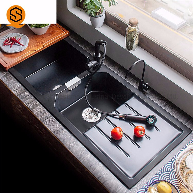 China Modern Fashionable Design Double Bowl Solid Surface Small Size Portable Kitchen Sink China Solid Surface Kitchen Sink Kitchen Sink